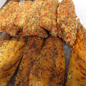 Peppered mackerel at Peets Plaice in Southport