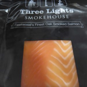 Smoked salmon at Peets Plaice in Southport