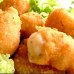 Breaded scampi at Peets Plaice in Southport