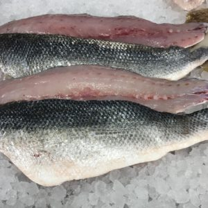 Wild sea bass fillets from Peets Plaice in Southport