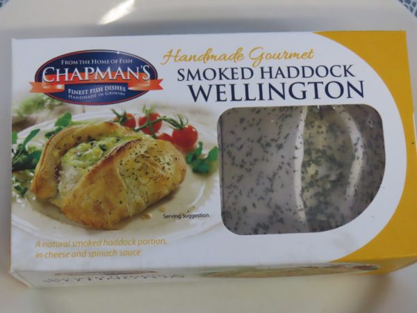 Chapman's Smoked Haddock Wellington in a Cheese and Spinach Sauce