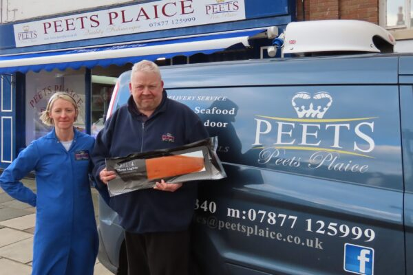 Kevin and Nicola Peet owners of Peets Plaice fish shop in Churchtown in Southport. Peets Plaice sells fresh fish and seafood. Photo by Andrew Brown Media