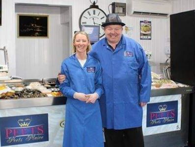 Kevin and Nicola Peet at Peets Plaice in Churchtown in Southport