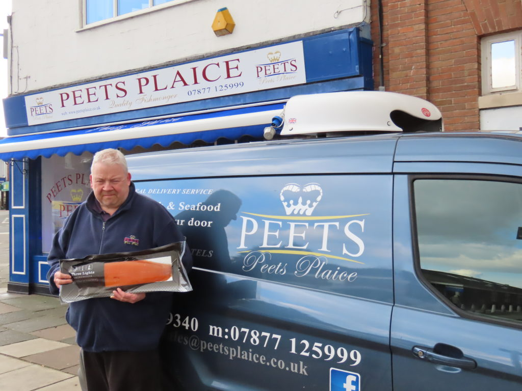 Kevin Peet owner of Peets Plaice shop in Churchtown will deliver fresh fish and seafood to businesses in Southport and West Lancashire
