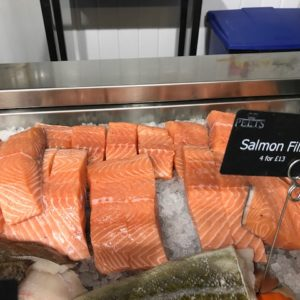 Salmon at Peets Plaice in Southport