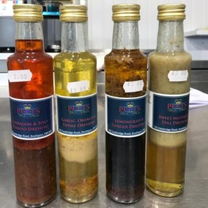 Enjoy one of four specially home-made dressings at Peets Plaice in Southport: Tarragon and Spicy Tomato; Garlic, Orange and Thyme; Lemongrass and Ginger; or Sweet Mustard and Dill.