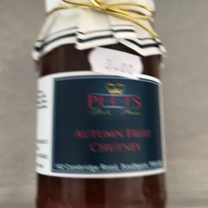 Autumn Fruit Chutney at Peets Plaice in Southport.