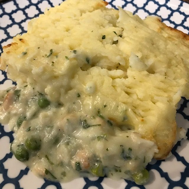 Home made fish pie at Peets Plaice in Southport