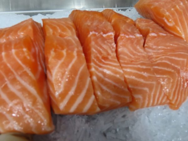 Salmon Fillets at Peets Plaice in Southport
