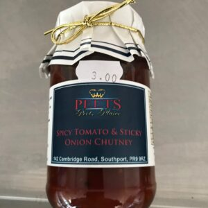 Spicy Tomato & Sticky Onion Chutney at Peets Plaice in Southport