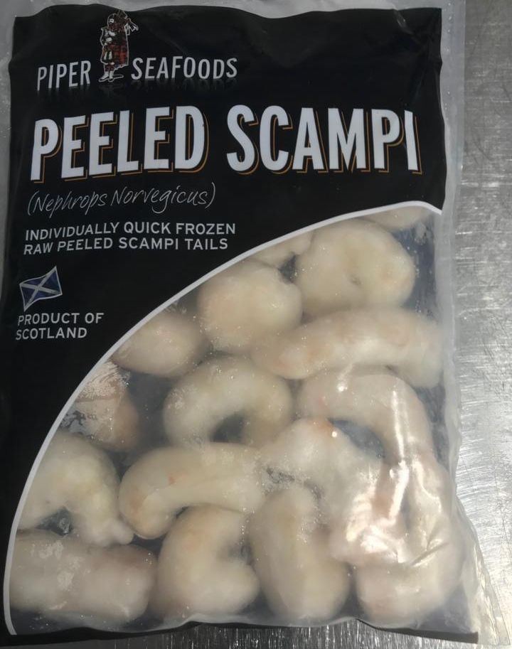 Peeled Scampi at Peets Plaice in Southport