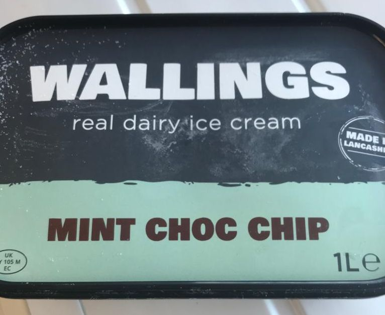 Wallings Mint Choc Chip Ice Cream