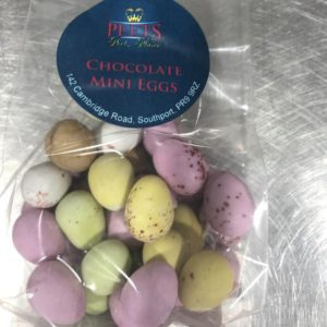 Chocolate Mini Eggs at Peets Plaice in Southport