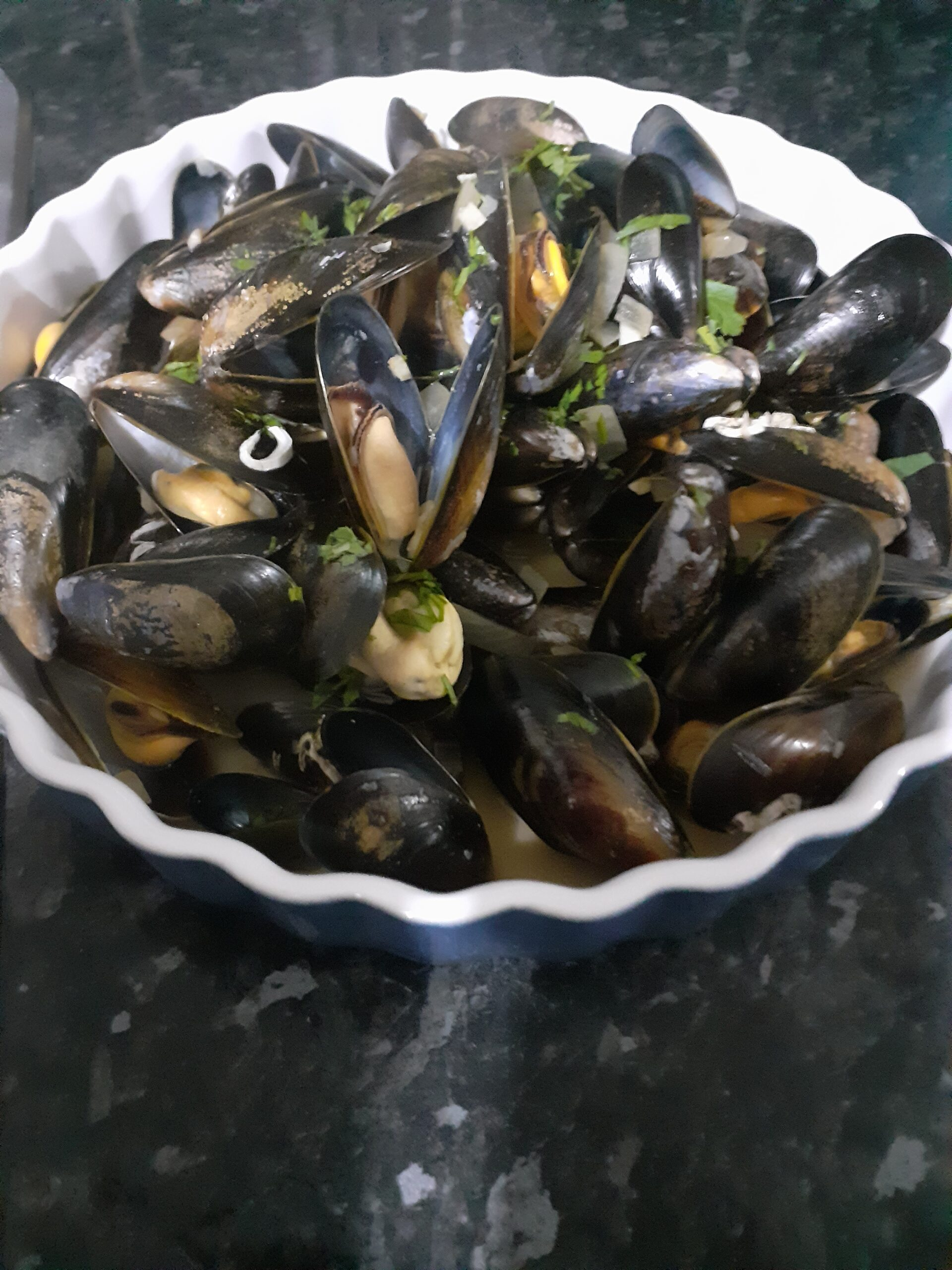 Traditional Mussels (Moules a la Mariniere)