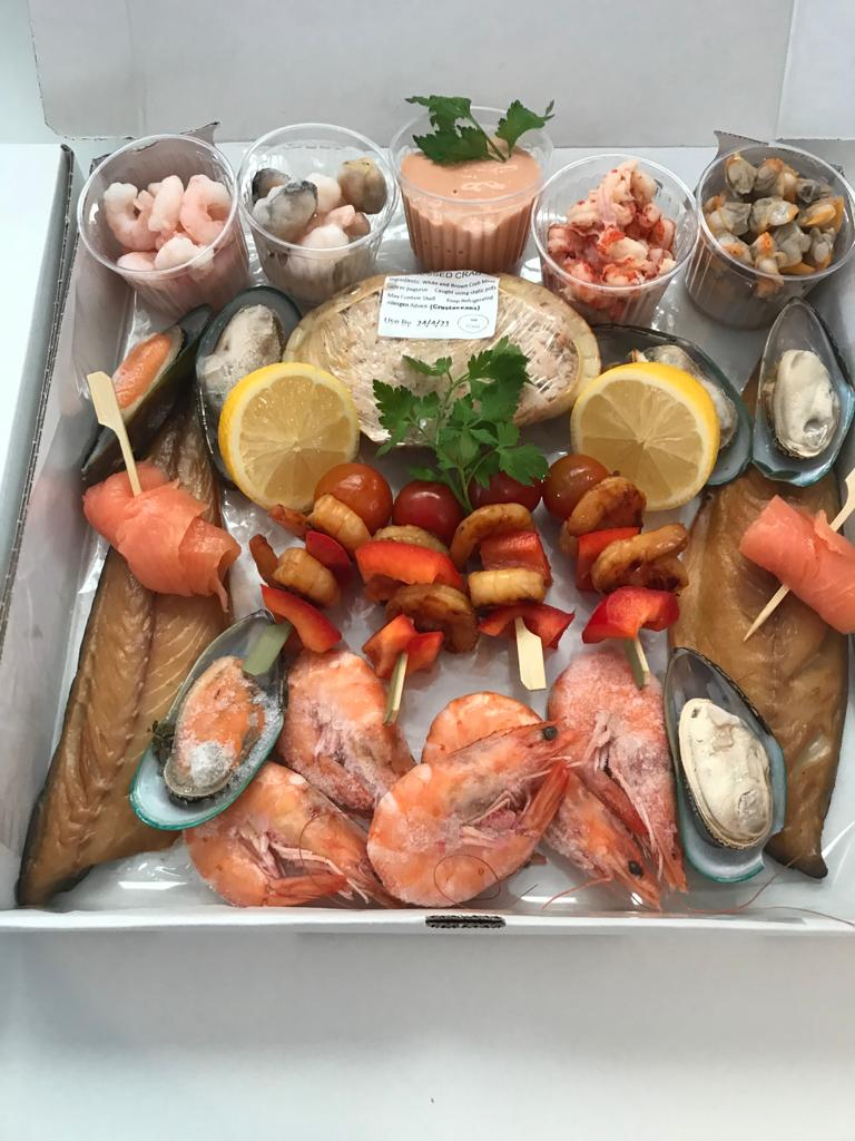 Family Fish Boxes including Peets *NEW* for 2021 – Smoked Fish and Seafood Platter for 2